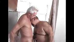 Meeting a hot grandpa in the bathroom