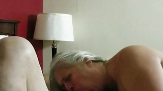 72 yr old guy gets a swallowing blowjob from from my 45 yr old wife