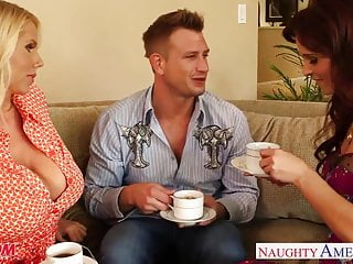Karens adult stories - Superb moms karen fisher and syren de mer share cock