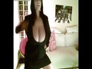 Lady with large breasts