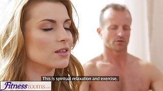 FitnessRooms Dirty yoga teacher on gorgeous fitness model