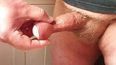 Floppy foreskin with pissing