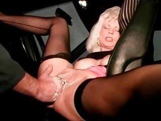 Mature slut with piercings gets spanked - I am pierced mature slut with pussy piercings fisted