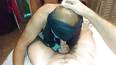 Married daddy bear blowjob and cum