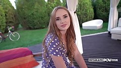 Blonde Kaisa Nord Has POV sex in the garden - itsPOV