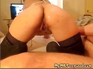 Sexy and exposed women - Amateur couple exposed sexy milf in stockings doggy style