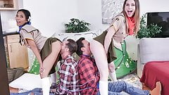 DaughterSwap - Girl Scouts Fuck Each Other's Dad
