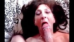 Mature lady hungry for cum suck and drink