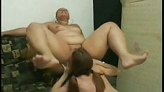 Nasty Fat BBW latina getting pussy and ass sucked by GF-3