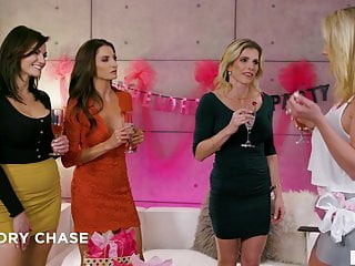Bachelorette sex clubs Lesbian 4some at bachelorette party