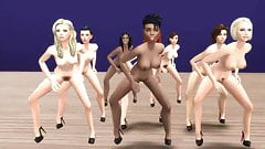 Naked Whores Doing The Thriller Dance