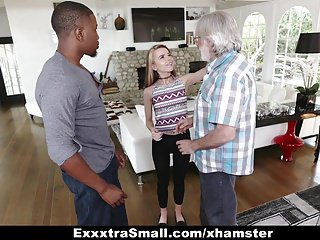 Payed facials - Exxtrasmall - tiny teen alina west sucks huge cock to pay de
