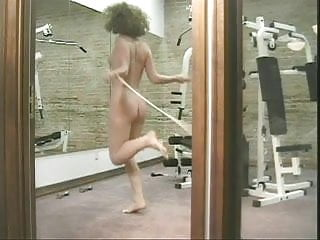 Nake hair grow faster Horny gym time with frizzy haired naked brunette