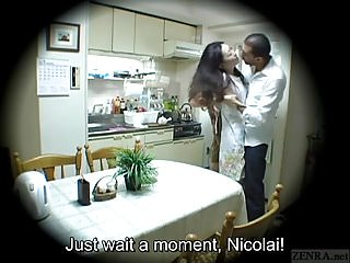 Strap on sex gone wrong Subtitled japanese homestay gone wrong host mom blowjob