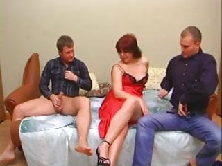 Nude naked middle-age A plump middle-aged woman with a wide ass and 2 guys