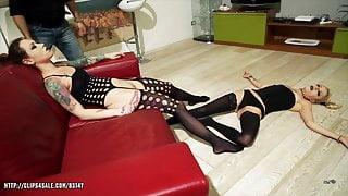 April Paisley & Foxy Sanie  -Model Sleeping