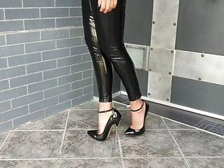 Nice ass legs Fan send me this latex legging video nice ass