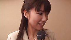 Misato Kuninaka gets tasty dick to choke her well
