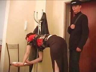 Who is nude in the postman Russian mature katya fucked by young postman
