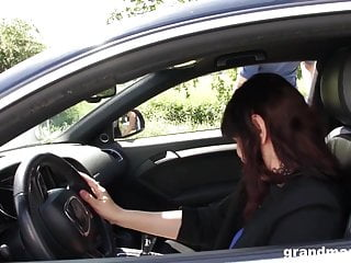 Very young anal abuse - Horny rich granny abuses young sausage after a long drive