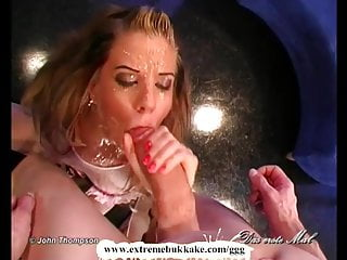Facial extremities Extreme bukkake - destroy my ass hole