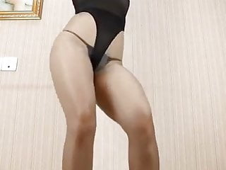 Heel high in sexy stocking woman Sexy asian woman