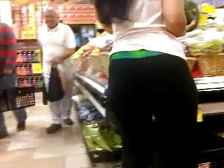 Dry humping a fat ass in public stores - Big fat ass in store