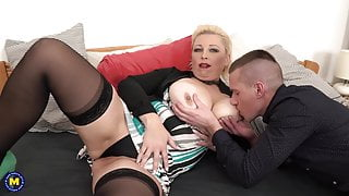 Moms with big tits fuck lucky stepsons