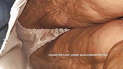 80yr Old Black Granny Bends So We Can See Her Panties & Ass
