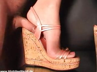 Mature shoejob Shoejob and wedge