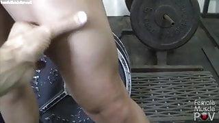 Mature Blonde POV Workout
