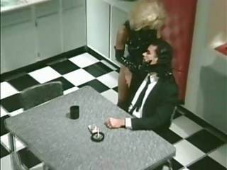 Lesbian latex glove video - Blonde girl in latex suit and gloves fucked