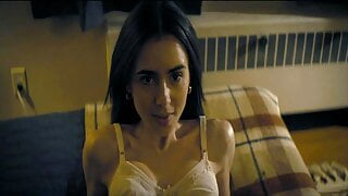Lily Collins  sexy video