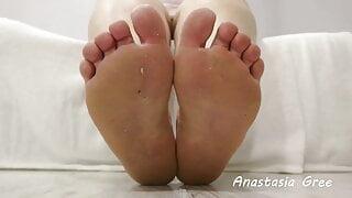 Dirty bbw feet Clean them 2
