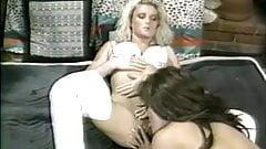 British slut Gina in lesbian action in a classic scene