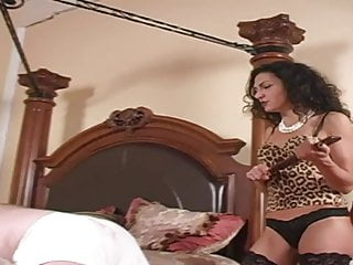 Femdom corset discipline Disciplined by mistress in stockings