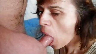 Ugly amateur mature stepmom sucks