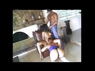 Two girls fuck a guy - Brazilian guy fucking two girls