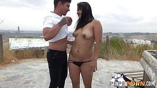 Paola the Latina loves horny public sex!!