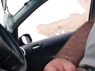 Yong porn girl Flash in car from yong girl