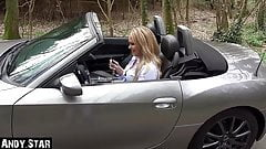 CAR SELLER FUCKS BLONDE ON CONVERTIBLE
