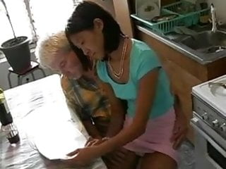Boobs wash Old man washes, shaves and fucks a lil asian girl