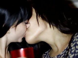 Pantyhose lesbian twins Lesbian twins kiss