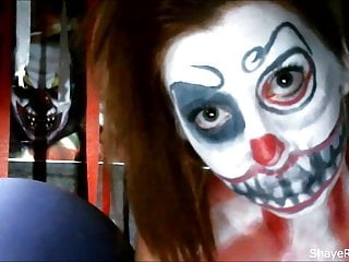 Nude scary costumes - Shaye rivers scary clown masturbation