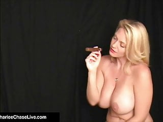 Smoking cunts Cigar smoking milf charlee chase orders boytoy to lick cunt