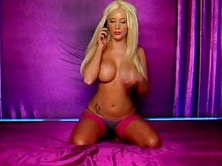 Hardcore phonesex Sexy blonde phonesex hottie in pink lingerie