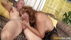 Golden Slut - Big Tits Matures Perfect BJs Compilation 1