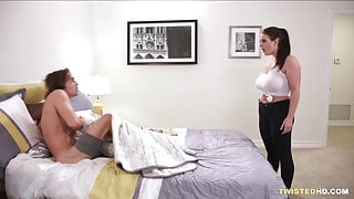 Big dick white boy drills chubby maid