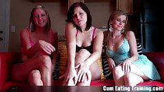 Cum three times and eat it all up CEI