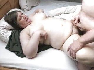 Cum on fat jugs - He cums on fat wife